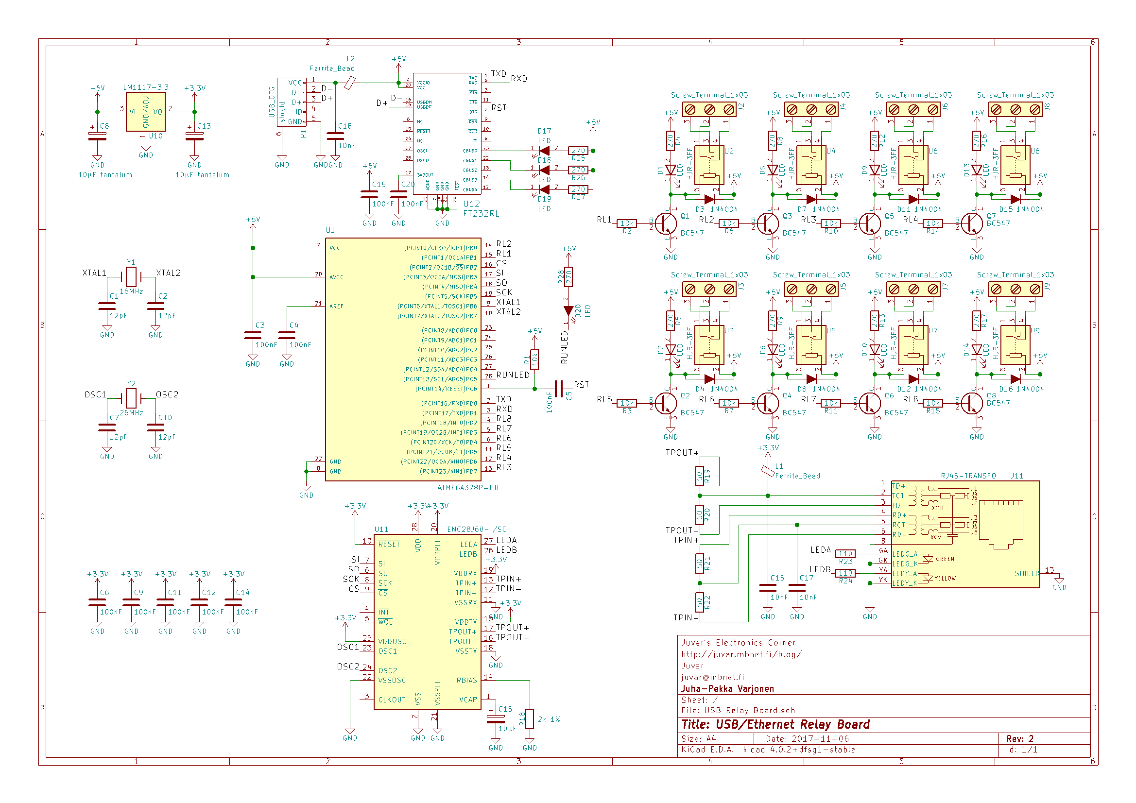 Juvars Electronics Corner Page 2 All Kinds Of 3v Led Chaser Using 4017 Parts Can Buy From Http Taydaelectronicscom Only Exception Is Ethernet Connector It Must Include Transformers And Filter Elements